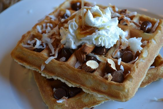 Coconut Waffles from Lake House Lyn