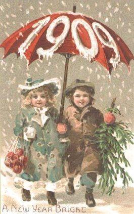 New Year 1909 Postcard