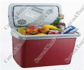 26lt THERMO ELECTRIC COOLER Features: Cooling Performance 12 to 18 degrees below ambient Heating perf. 55-65c  12volt / 220 volt  Power consumption 48watts  220v with adapter included Packed weight: 5.20kg Packed dimension: 44 x 41 x 31cm