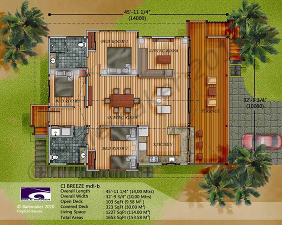 Bali wood house plans