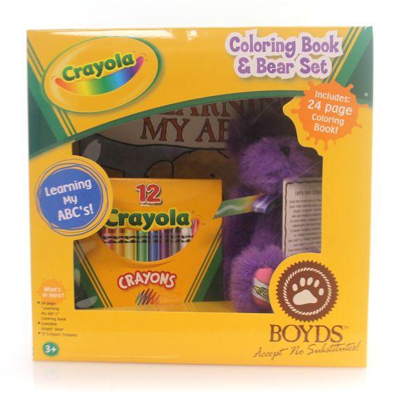 Boyds Bears Plush Crayola Q.T. Violet Teddy Bear