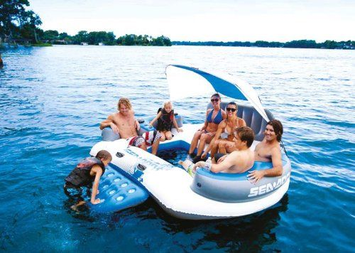 sea-doo® dream island badeinsel für 7 personen: amazon.de: küche