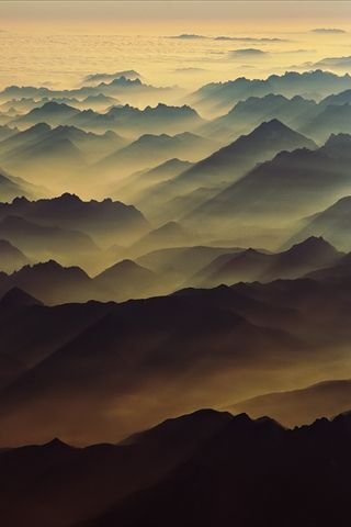 Swiss Alps sunrise.