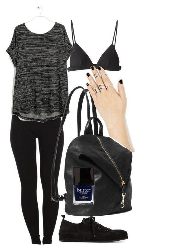 """""""But black is not a sad colour ~"""" by clasule ❤ liked on Polyvore featuring T By Alexander Wang, Ann Demeulemeester, Pieces, MANGO, Butter London, women's clothing, women, female, woman and misses"""