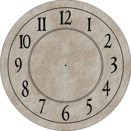 Free Printable Clock Faces | You are here: Home / Clocks / Clock Face – Round with Antique ...: