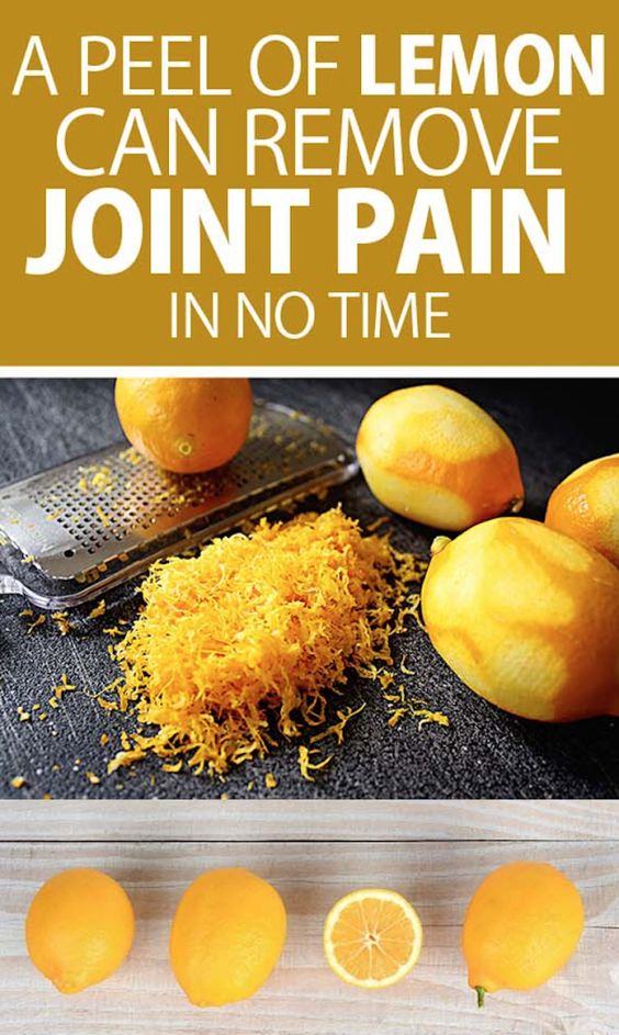 A Peel Of Lemon Can Remove Joint Pain In No Time...