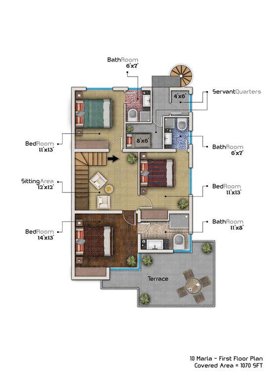 10 Marla House Plan With Basement Home Plans Pinterest