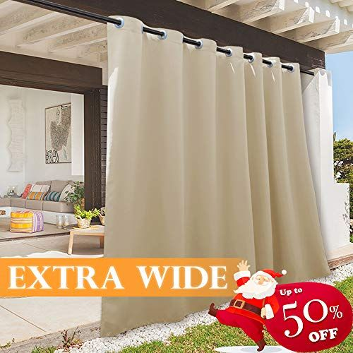 Ryb Home Indoor Outdoor Deck Curtain Outdoor Patio Curta Https Www Amazon Com Dp B07s In 2020 Outdoor Curtains For Patio Outdoor Curtains Indoor Outdoor Curtains