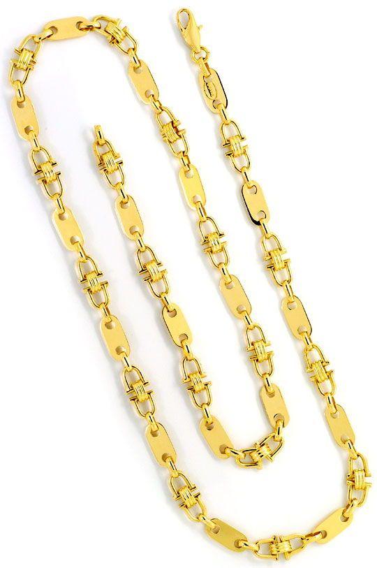 am besten wählen uk billig verkaufen ziemlich billig Plättchen Steigbügel Goldkette, massiv Gelbgold 14K/585 ...