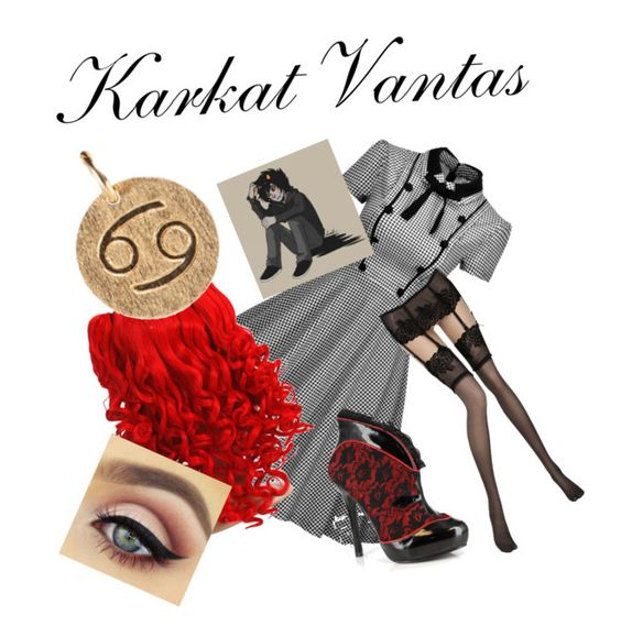 """""""Karkat Vantas"""" by mikailaclonts on Polyvore featuring Pierre Mantoux and Pernille Corydon"""