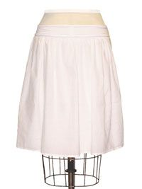 Simple Gathered Skirt With Knit Waistband