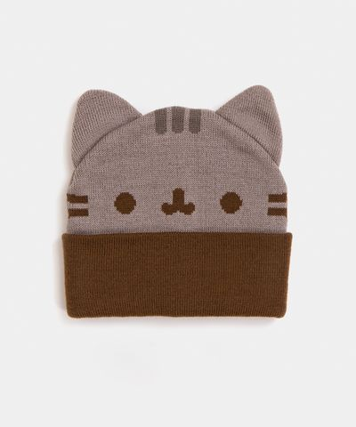 Pusheen cozy knit hat