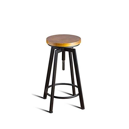 Wljbd High Bar Chair Round Wood Seat Bar Counter Height