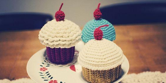 Crochet: Cupcake Containers - Artesanato na Rede