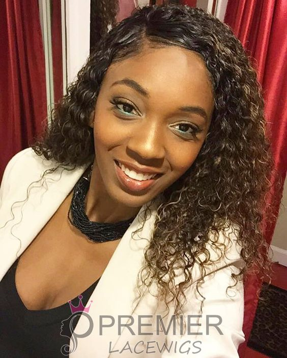 😘#customershow @marvellouscouture so gorgeous 😍 very natural looking 💓 👉http://www.premierlacewigs.com/big-curl-super-deep-middle-part-lace-front-wigs.html #premierlacewigs #lacewigs #wigs #lacefrontwigs #indianremyhair #curlyhair #beauty #fashion
