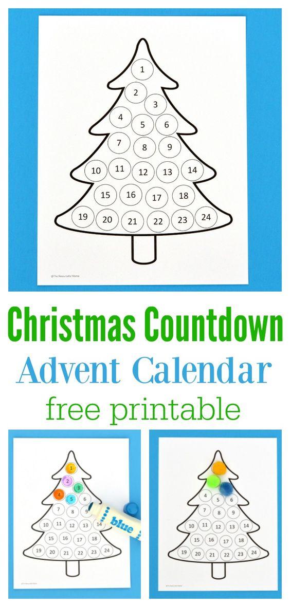 Christmas Calendar For Kids : Christmas countdown advent calendar each day