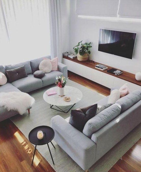ایده های ناب برای جشن شما Wohnung Einrichten Wohnideen Schlafzimmer Hausdekor Deko Living Room Decor Apartment Monochrome Living Room Couches Living Room