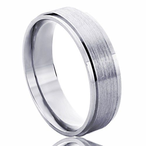 Wellingsale Mens 14k Yellow White Gold Solid 6mm COMFORT FIT Wedding Band Ring OR