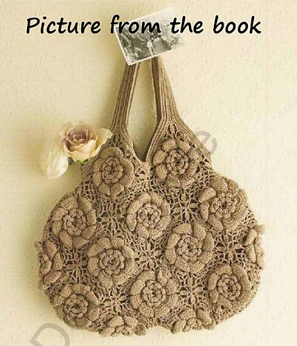 Little obsessed with this crochet irish rose bag