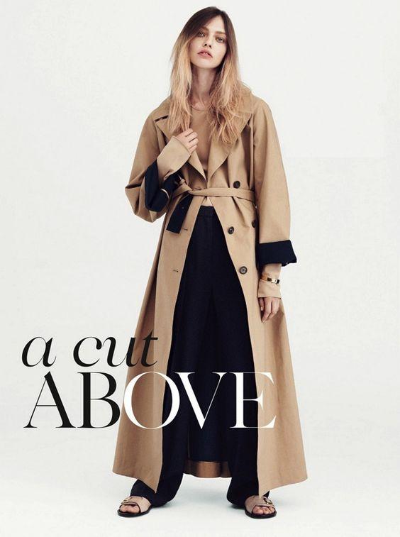 Саша Пивоварова в фотосессии для июльского Vogue UK / фото 2016