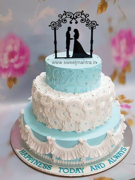 Customized Wedding Reception Cake By Sweet Mantra Customized 3d Cakes Designer Wedding Engagement Engagement Party Cake Engagement Cake Design Reception Cake