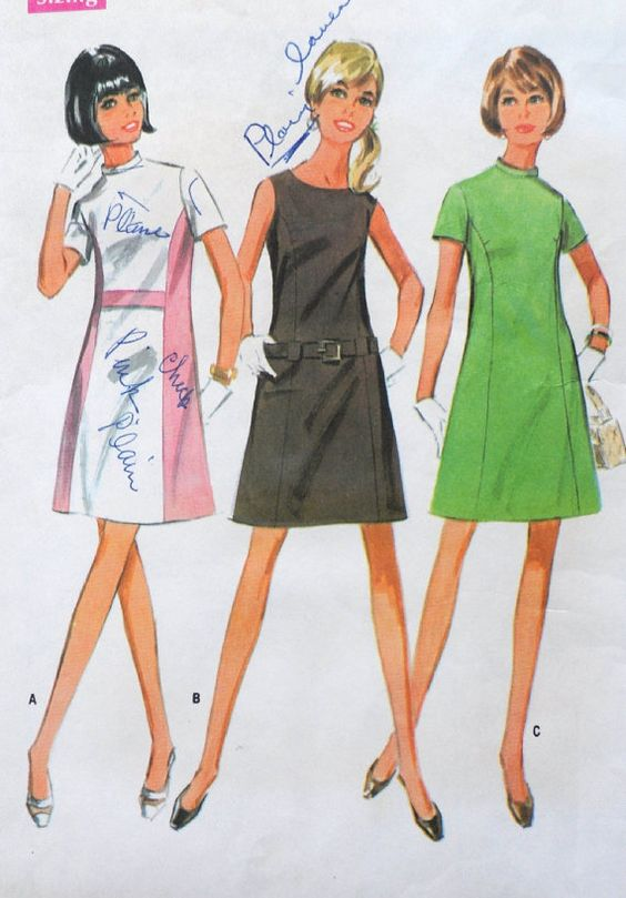 McCall's 9228 Super Mod Color Block Dress Pattern by Clutterina