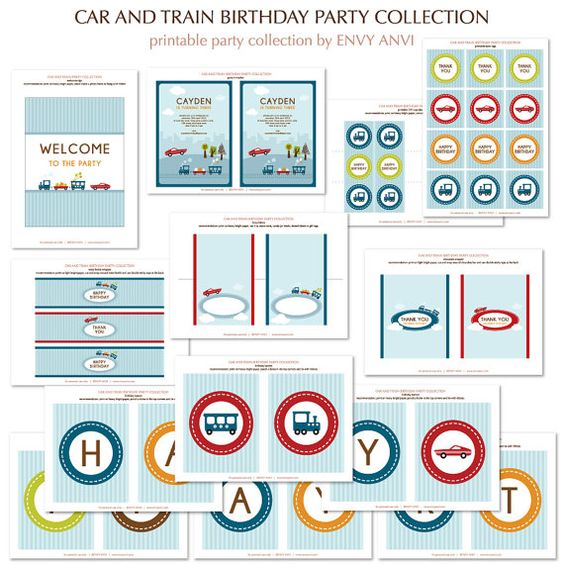 Printable party collection INSTANT DOWNLOAD and by envyanvi