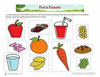 Worksheet Healthy Eating For Kids Worksheets healthy worksheets and articles on pinterest food is fantastic or not healthy