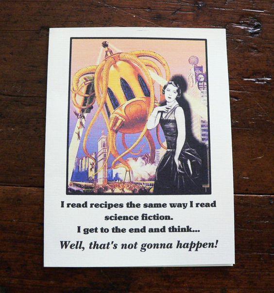 "Favorite Recipe: ""Someone else prepared it."" LOL!! Great card by Etsy seller. So me!"
