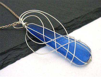 Cobalt Angel Wings from the Sea #HAFshop #HAF #HAFteam #handmade $50.00