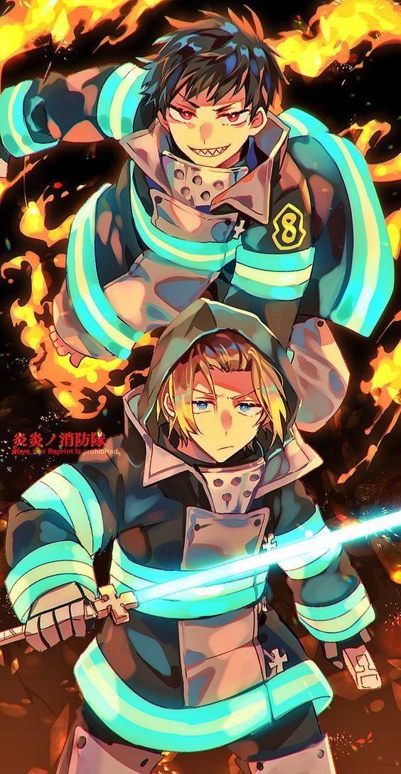 enne no shouboutai shonen fire force anime wallpaper anime anime wall art