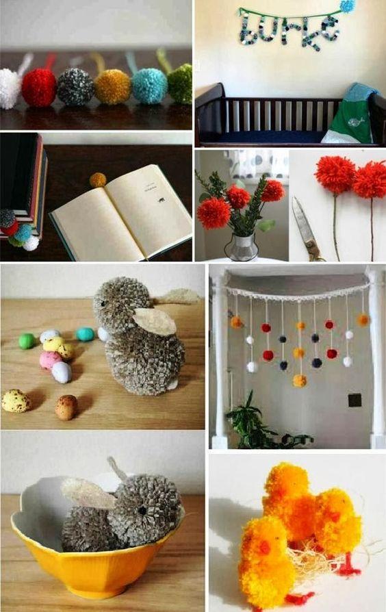 Creaciones divertidas para crear con pompones de lana