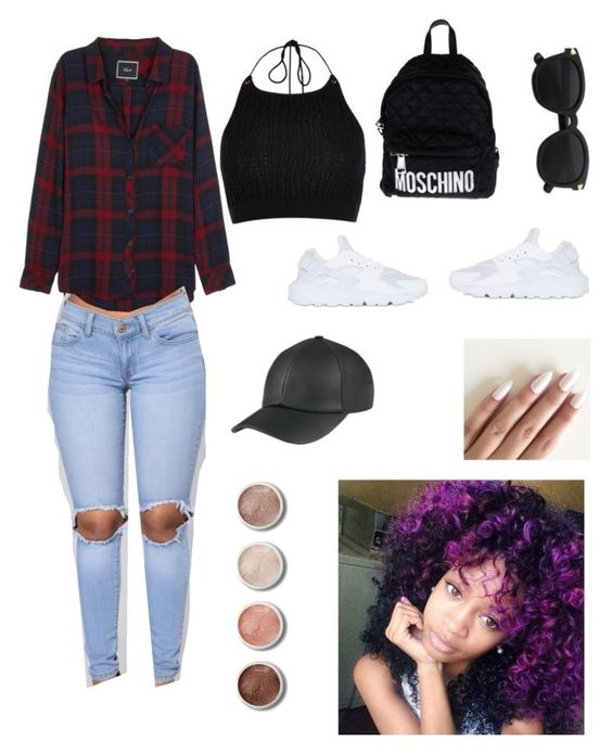 """😝"" by regeneperkins ❤ liked on Polyvore featuring Rails, River Island, Moschino, NIKE and Terre Mère"