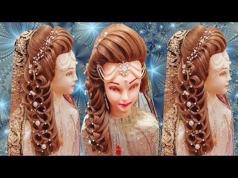 Kashee S Bridal Hairstyles Front Layer Puff Hairstyles Step By Step Pakistani Bride Hairstyles Youtu In 2020 Bride Hairstyles Hair Puff Pakistani Bride Hairstyle