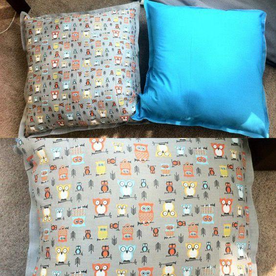 Pancake Floor Pillows: DIY Owl Floor Pillows Fabric From Walmart
