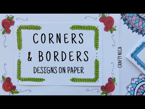 CORNER DESIGNS FOR PROJECTS ❤ BORDER DESIGNS ON PAPER ...