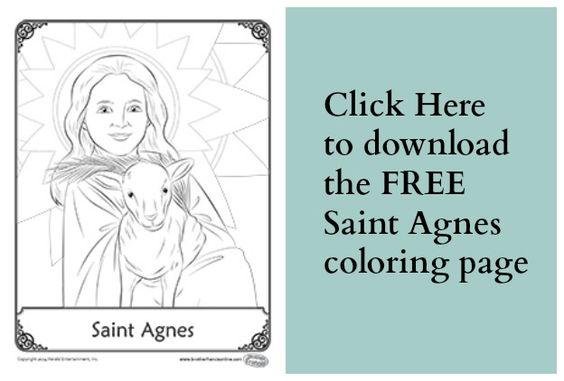 Saint Agnes Coloring Page | catholic inspirations | Pinterest