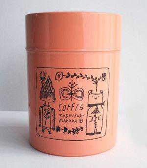 like sharpie on a mug, I wonder? paint pen on a tin? original by toshiyuki fukuda