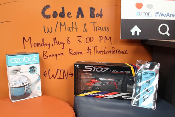 Kids coming to That Conference! Make sure to attend Code a Bot next Monday. Matt & Travis will be giving away three Syma S107G helicopters and two Ozobots to some lucky winners that attend their sessions. #ThatConference #WeAreOmni
