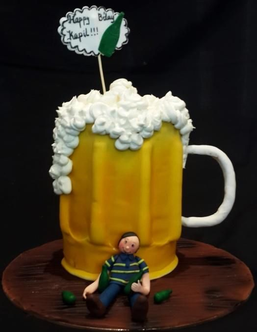 Beer mug cake - Cake by Aakanksha