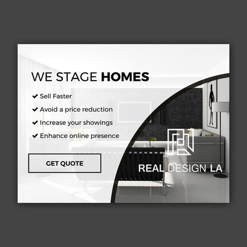 Banner Ad For Luxury Home Staging And Interior Design Firm Home