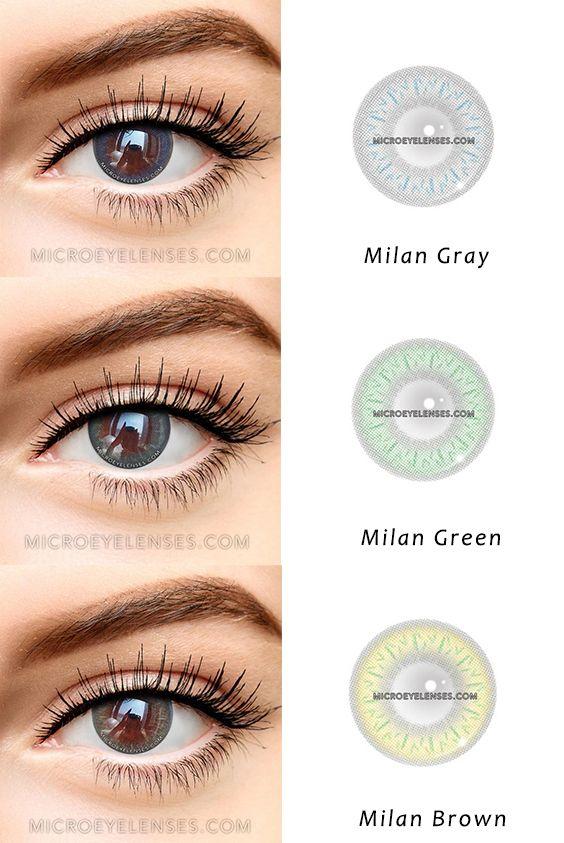 Microeyelenses Com Milan Series Gray Green And Brown Coloredcontacts Colorcontactscolorcontacts Colored Contacts Contact Lenses Colored Halloween Makeup