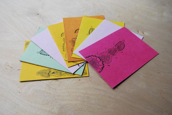 Hand Drawn Cards  Set of 8 by SewNotSari on Etsy, $16.00