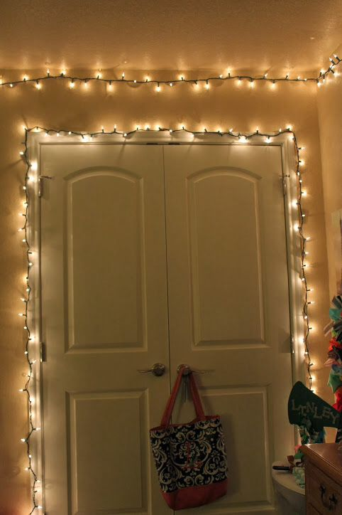 Easy diy the o 39 jays and doors on pinterest for Creative ways to hang christmas lights indoors