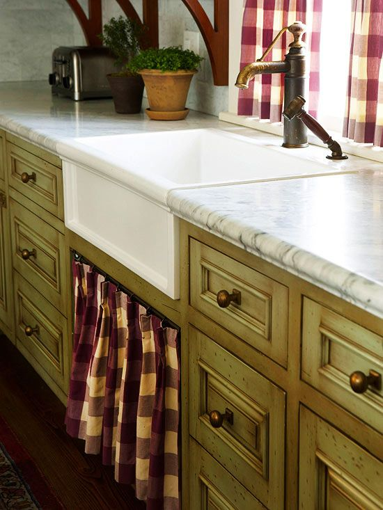 Sinks Curtains And Cabinets On Pinterest