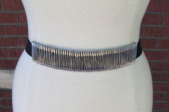 safety pin belt diy