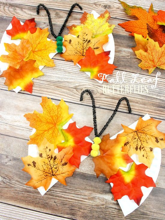 Fall Leaf Butterfly Craft With Images Butterfly Crafts