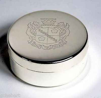 Engraved Sorority Crest Small Jewelry Box or Pin Box Non Tarnish Silver Plate