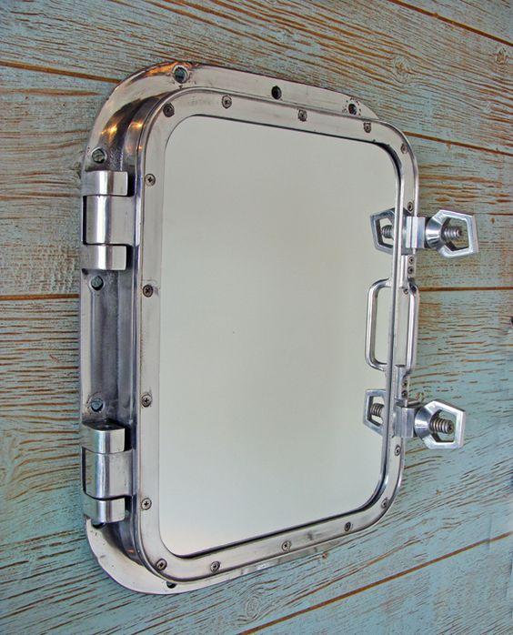 Aluminum Nautical Mirror Made With Authentic Ship's Porthole ...