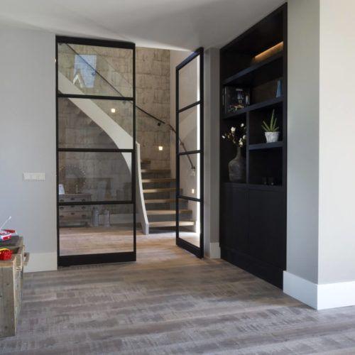 Woonkamer Ideeen Zwart.Zwart Stalen Deuren Woonkamer Strak Modern Ideeen Livingroom